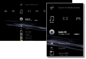 PS3 Music Menu