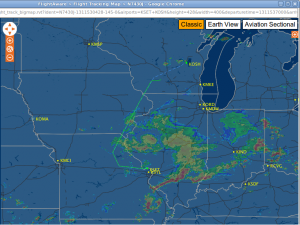 FlightAware flight track for N7430J