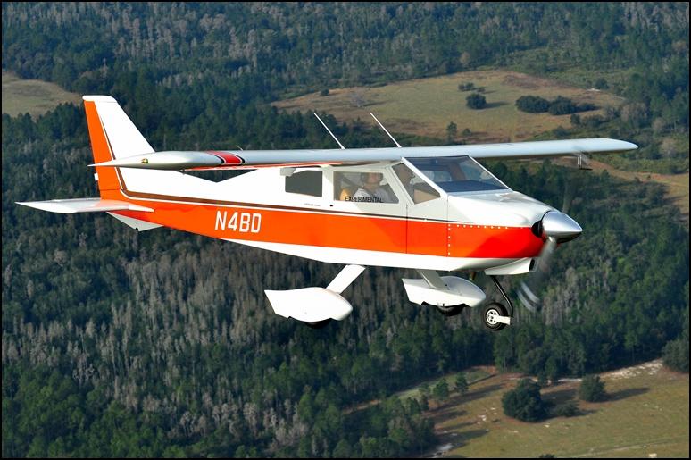 Bede BD-4C in flight