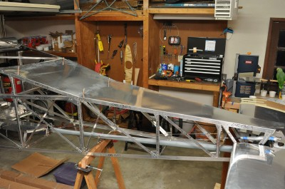 Top, rear fuselage skin on BD-4C