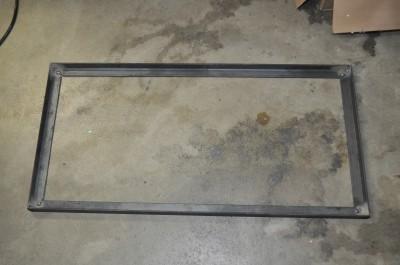 Complete tabletop frame, tack welded together