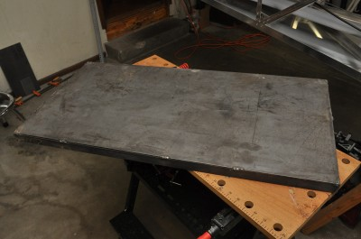 Completed welding tabletop