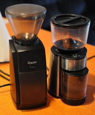 Baratza Encore and Mr. Coffee coffee grinders