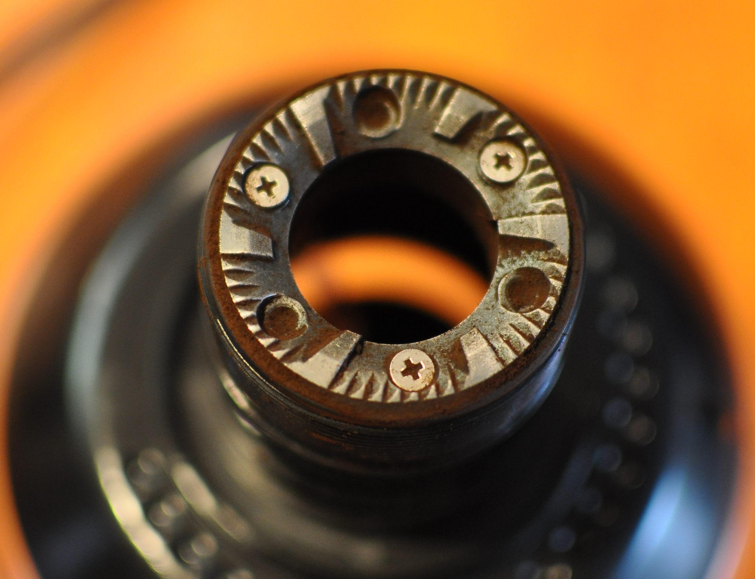 Worn out coffee grinder blades