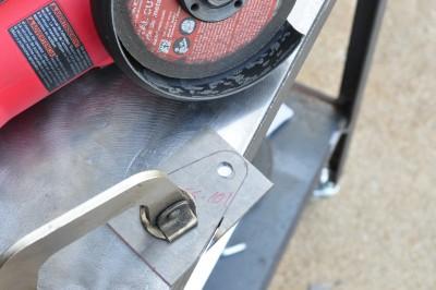 Cutting shoulder belt anchor parts