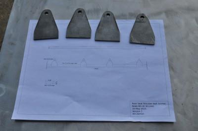 Bede BD-4C rear seat shoulder belt anchor diagram and parts