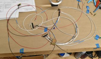 Partially built wiring harness