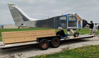 Bede BD-4C on trailer