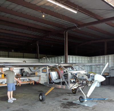 Bede BD-4C airplane in hangar