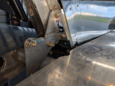 Bede BD-4C horizontal trim bellcrank
