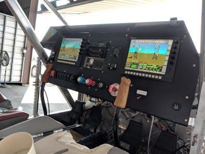 BD-4C instrument panel with glare shield