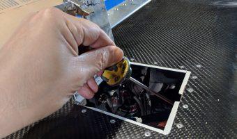 Open oil door in Bede BD-4C cowling