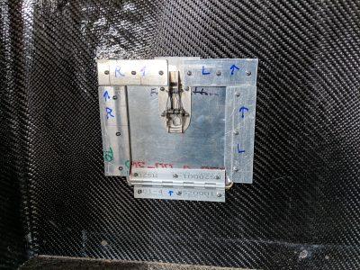Underside of oil door