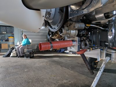 Air induction tubing on Lycoming IO-360 engine