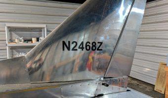 N2468Z N-number on tail of airplane